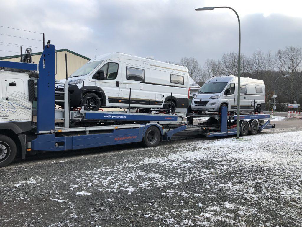 Robeta Kastenwagen Anlieferung